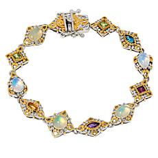 Gems by Michael Opal and Multi-Gemstone Line Bracelet