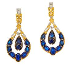 Gems by Michael Sterling Silver Cobalt Blue Spinel Drop Earrings