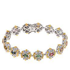 Gems By Michael Sterling Silver Multi-Color Tourmaline Line Bracelet