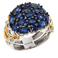 Gems by Michael Sterling Silver Royal Blue Sapphire Cluster Ring
