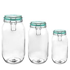 General Store Wide Valley 4 Qt Preserving/Storage Jar Set W/Wire Ba...