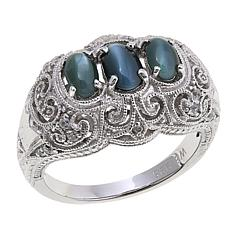 Generations® 1912 Cat's Eye Alexandrite and Zircon Ring