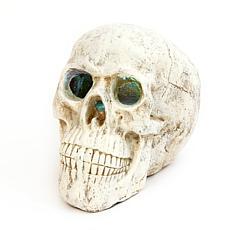 "Gerson 20.8"" Electric Magnesium Smoking Haunted Skull"