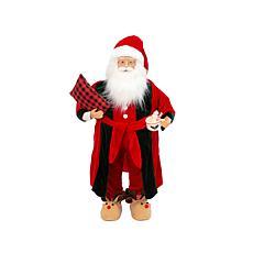 Gerson 3' Holiday Santa Figurine