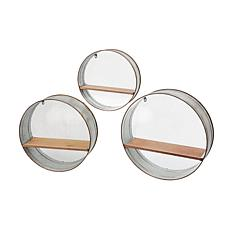 Gerson Assorted Sized Metal Circular Hanging Shelves 3-pack