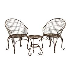 Gerson Company 3-piece Antique Bronze Metal Bistro Set