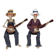 """Gerson Company 38""""H Battery-operated Musical Skeletons 2-pack"""