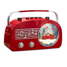 Gerson Illuminated Vintage Radio Musical Snow Globe