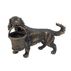 Gerson Magnesium Dog Figurine Planter