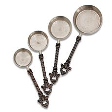 GG Collection Stainless Steel & Brass Fleur De Lis 4pc Measuring Cups