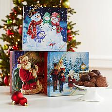 Giannios 3pk 1lb Assorted Chocolates in Holiday Boxes - Nov. Delivery