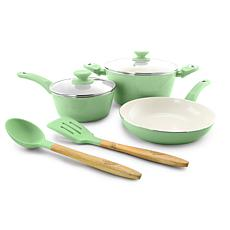 Gibson Coffee House Plaza Cafe 7-piece Cookware Set in Mint