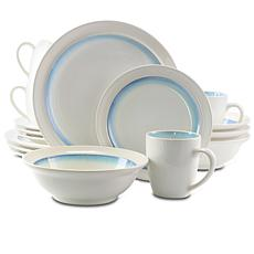 Gibson Elite Lawson 16-piece Dinnerware Set - Teal