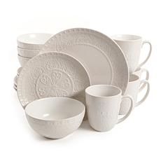 Gibson Elite Milanto 16 Piece Dinnerware Set, Cream