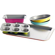 Gibson Home Color Splash Lyneham 5-piece Carbon Steel Bakeware Set