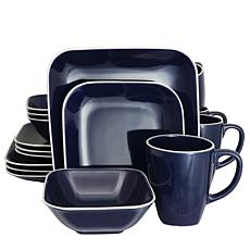Gibson Home Dancing Break 16-piece Dinnerware Set in Cobalt