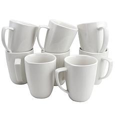 Gibson Home Simplicity Buffetware 8-piece 12 oz. Square Mug Set
