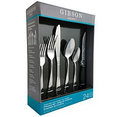 Gibson Home Trillium Plus 24 Peice Flatware Set with 4 Steak Knives