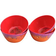 "Gibson Home Tropical Rains 4-piece 6"" Melamine Bowl Set"