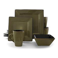 Gibson Kiesling 16pc Hard Square Dinnerware Set