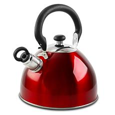 Gibson Morbern 1.8 Quart Tea Kettle in Red