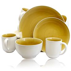 Gibson Serenity Amber 16pc Dinnerware Set