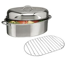 Gibson Top Roast  Oval Roaster with lid and roasting rack
