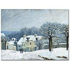 Giclee Print - Place du Chenil Snow 1876