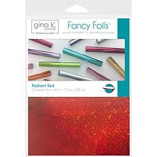 """Gina K Designs Fancy Foil 6"""" x 8"""", 12 Pack - Radiant Red"""