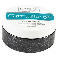 Gina K Designs Glitz Glitter Gel, 2.3oz - Black