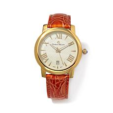 Giorgio Milano Champagne Dial Orange Strap Watch