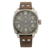 Giorgio Milano Gray Dial Tan Leather Strap Watch