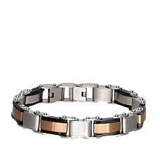 Giorgio Milano Men's Tri-Color Stainless Steel Bracelet