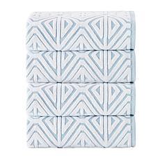 Glamour Turkish Cotton 4-piece Bath Towel Set