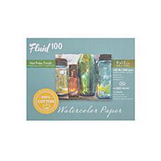 Global Art Fluid 100 Watercolor Paper EZ Blocks Hot Press 9x12 140lb.