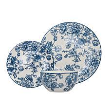 Godinger English Garden Porcelain 12-Pc Dinnerware Set, Service For 4