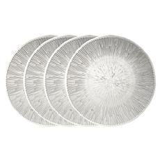 Godinger Walker Glass Salad Plate 4-piece Set