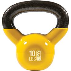 GoFit 10 lb. Kettlebell and Iron Core Training DVD