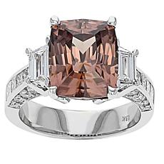 Gold & Diamond Source® Pink Zircon & Diamond Ring