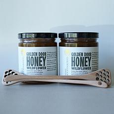 Golden Door 2-pack of Raw Wildflower Honey with Dippers Auto-Ship®