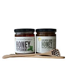 Golden Door 2pk Raw Wildflower & Peppermint Honey w/Dippers Auto-Ship®