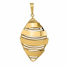 Golden Treasures 14K Gold Dimensional Drop Pendant