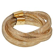 Golden Treasures 14K Italian Gold 9mm Flexible Twist Ring
