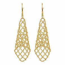 Golden Treasures 14K Polished Lever Back Earrings