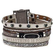 "Good Work(s) ""Empower Me Every Day"" Inspiration Leather Strap Bracelet"