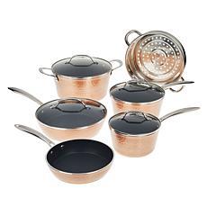 Gotham Steel 10-piece Hammered Nonstick Cookware Set