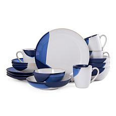 Gourmet Basics by Mikasa Caden Blue 16-Piece Dinnerware Set