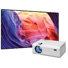 """GPX Mini Projector with Bluetooth and 120"""" Projection Screen"""