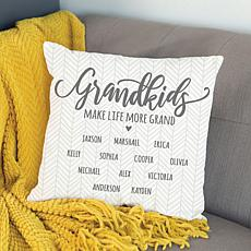 Grandkids Make Life More Grand Personalized Throw Pillow