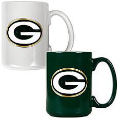 Green Bay Packers 2pc Coffee Mug Set
